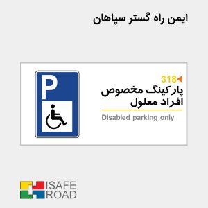 پارکینگ مخصوص افراد معلول | ایمن راه گستر سپاهان